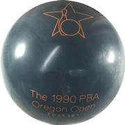 Brunswick 1990 Oregon Open Pro Am Cobalt Rhino Bowling Ball