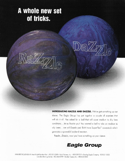 Eagle Group Razzle Bowling Ball - Ad