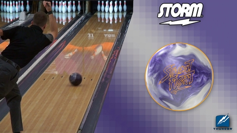 Storm Street Fight Bowling Ball by Scott Widmer, BuddiesProShop.com